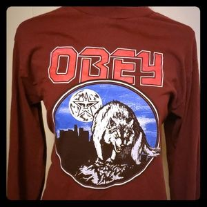 OBEY size small long sleeve t shirt